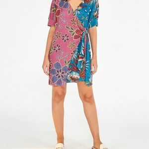 FARM Rio Dresses - NWT Farm Rio Mixed Mini Wrap Dress